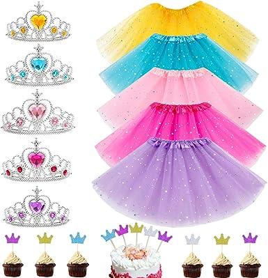 Amazon.com: 20 piezas de accesorios para vestir de princesa ...
