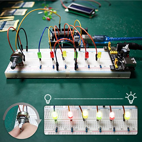 Smraza UNO R3 Starter Kit for Arduino with Tutorials and 9V 1A Power Supply Compatible with Arduino UNO R3 Mega2560 Nano (40 Projects) by Smraza (Image #9)