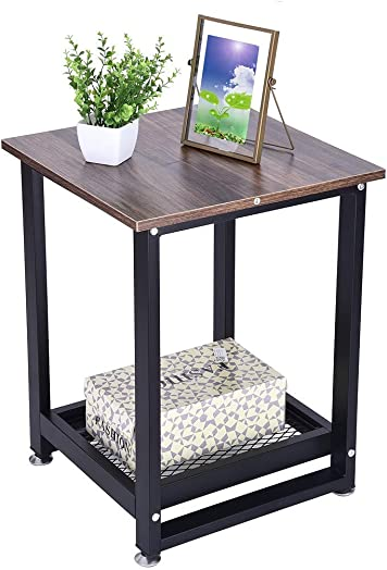 Industrial End Table Side Table