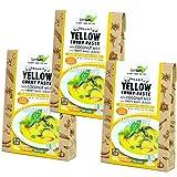 Organic yellow curry paste Set of three coconut milk input sweet basil with organic JAS gluten-free vegan Halal [Parallel import]