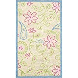 Cheap Safavieh Kids Collection SFK362A Handmade Ivory and Blue Cotton Area Rug (4′ x 6′)