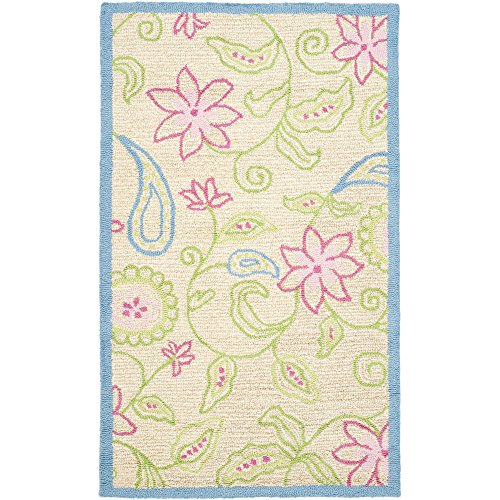 Safavieh Kids Collection SFK362A Handmade Ivory and Blue Cotton Area Rug (4' x 6')