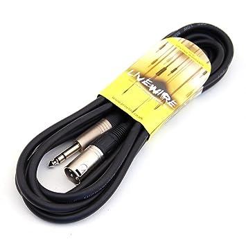 Cable equilibrado activo monitor en negro, 3 metros