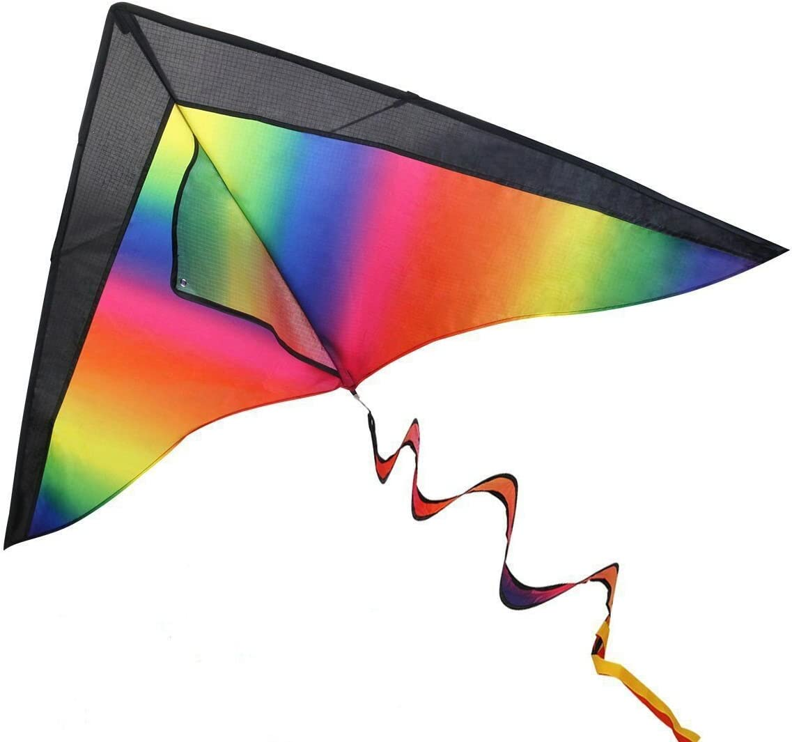 iBaseToy Huge Rainbow Kite for Kids