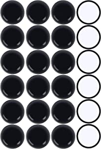 Ezprotekt Round Black 24 Pack Self-Stick Furniture Sliders 1-3/4