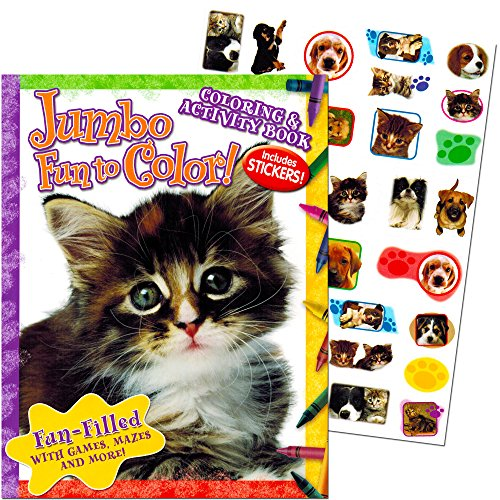 Kitten and Puppy Coloring and Activity Book with Stickers (Kittens and Puppies)