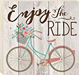 Cheap P. GRAHAM DUNN Enjoy The Ride Vintage Bicycle 17 x 18 Pine Wood Boxed Pallet Wall Art Sign Plaque