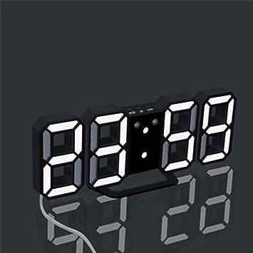 hunpta moderno Digital Led Mesa Escritorio Noche Reloj De Alarma Reloj de pared 24 o 12 horas pantalla, A: Amazon.es: Deportes y aire libre