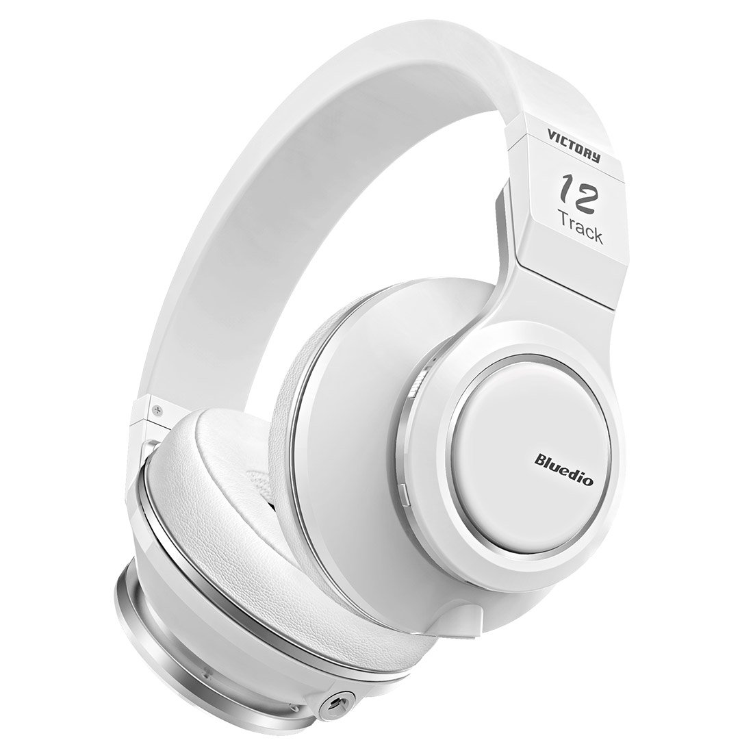 Bluedio V (Victory) Pro Patented PPS12 Drivers Wireless Bluetooth headphones(White)