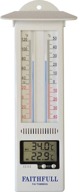 Faithfull FAITHMMBUTMF Thermomètre PRESSE BOUTON Max-Min