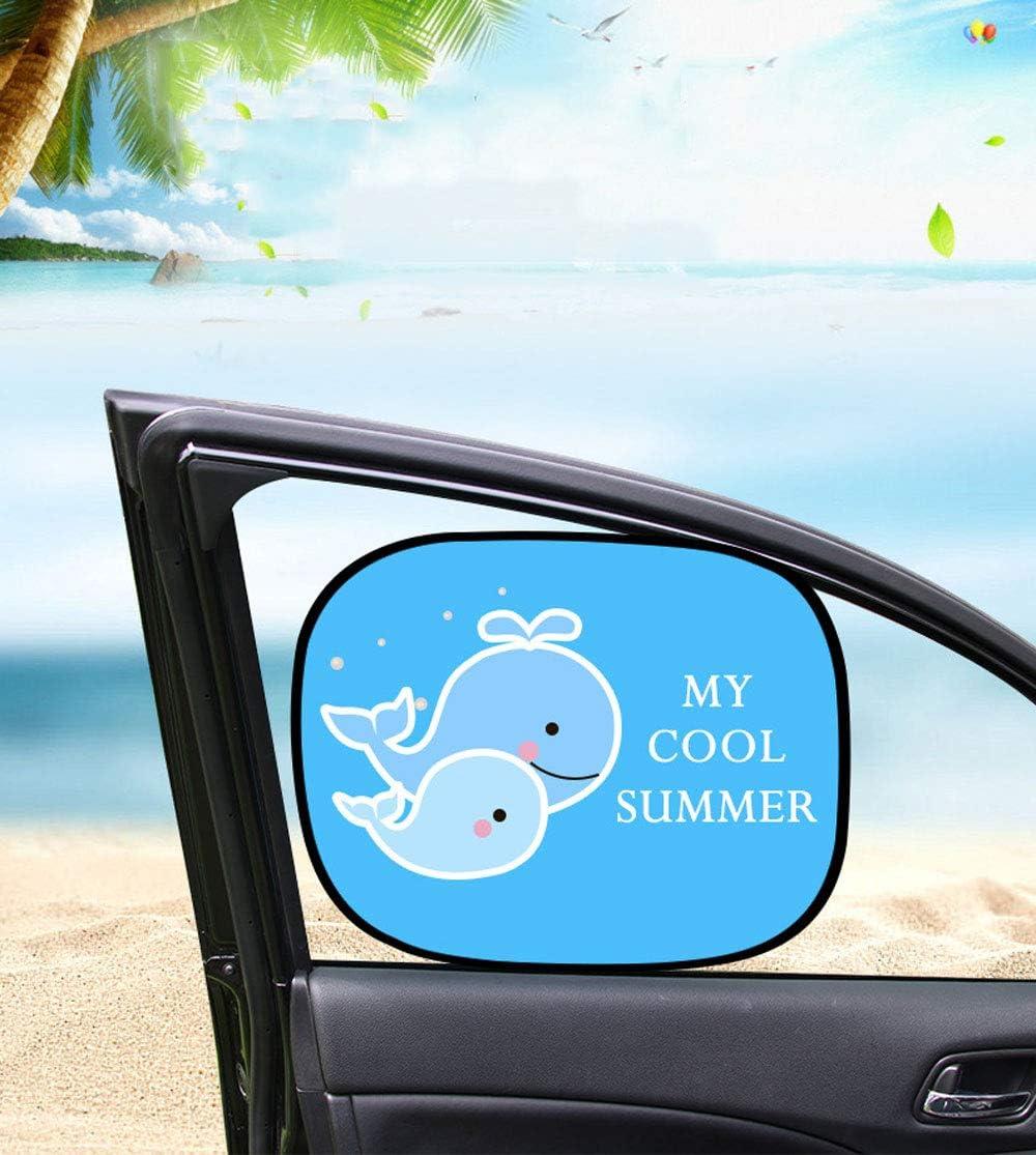 YUEMING 2 Pcs Parasol de Coche,44 37cm Parasol Coche Ni/ños,Parasoles Coche con Autoadhesivo para Ventana de Parabrisas Lateral del Coche,para Proteger del Sol a Beb/és
