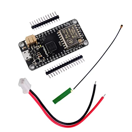 DIYmall 433MHZ LoRa32u4 LORA RA-02 Module Development Board Long Range  Communication 1KM LiPo Atmega32U4 SX1278 with IPEX Antenna for Arduino