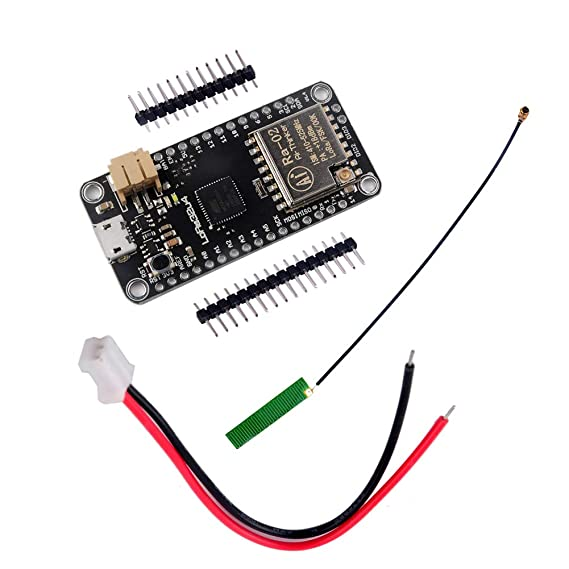 DIYmall 433MHZ LoRa32u4 LORA RA-02 Module Development Board Long Range  Communication 1KM LiPo Atmega32U4 SX1278 with IPEX Antenna for Arduino
