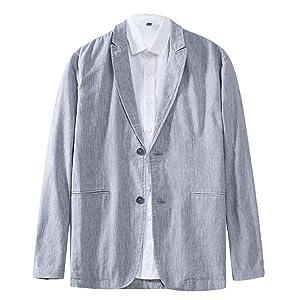 テーラードジャケット メンズ サマージャケット VICALLED グレー キレイめ ジャケット カジュアル 大きいサイズ 春 夏