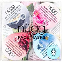 nügg Face Mask Set for Clean, Radiant and Dewy Skin; Pack of 4 Face Mask Pods to Detox, Exfoliate, Hydrate and Revitalize Skin; Perfect Face Treat or Beauty Gift Set (4 x 0.33fl.oz.)