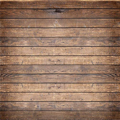 Kate 10x10ft Brown Wood Texture Photography Backdrops Vintage Faux Wooden Panel Background Photo for Shooting