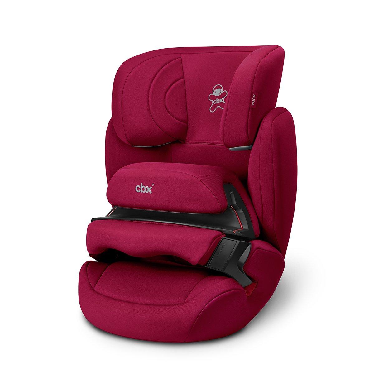 cbx Kinder-Autositz Aura, Gruppe 1/2/3 (9-36 kg), Ab ca. 9 Monate bis ca. 12 Jahre, Ohne ISOFIX, Crunchy Red 518001589