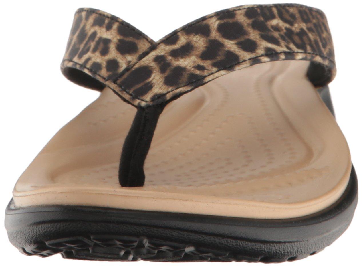 crocs Damen Caprivflip Pantoffeln Mehrfarbig  (Leopard) 2018 Letztes Modell  Mehrfarbig Mode Schuhe Billig Online-Verkauf 7d2776