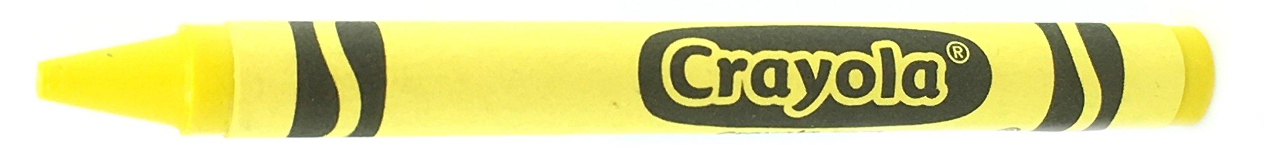 50 Yellow Crayons Bulk - Single Color Crayon Refill - Regular Size 5/16'' x 3-5/8''