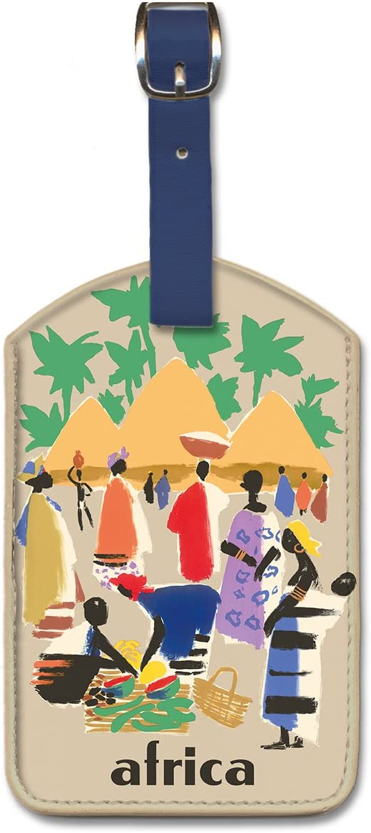 Greece Pacifica Island Art Leatherette Luggage Baggage Tag