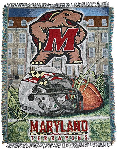 The Northwest Company Officially Licensed NCAA Maryland Terrapins Home Field Advantage Woven Tapestry Throw Blanket, 48