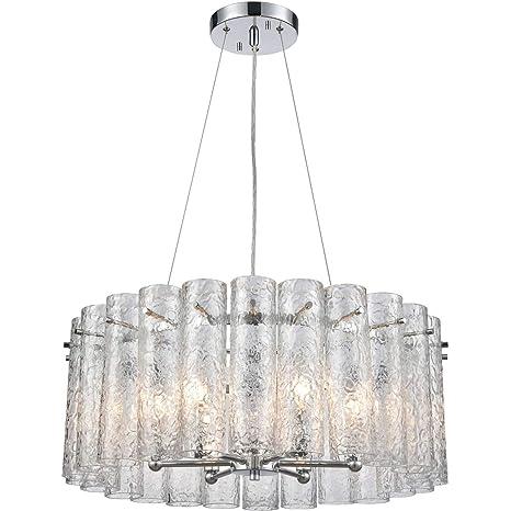 Amazon.com: Colgantes 6 lámparas con acabado cromado pulido ...