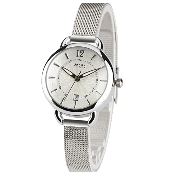 fq-269 diseño clásico correa de acero inoxidable Niñas negocios cuarzo muñeca relojes para mujer