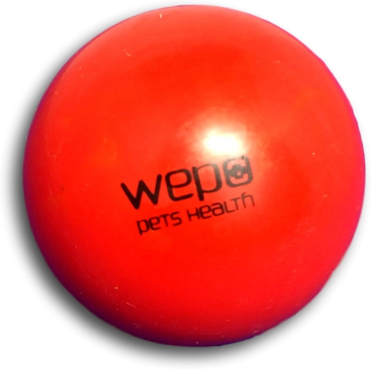 WEPO® Juguete para perros, pelota para masticar con función de cuidado dental – Pelota de caucho natural robusta – Pelota de juguete para perros – Juguete para cachorros