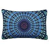 Sleepwish Moonlight Mandala Pillow Case Bohemia Design Dark Blue Decorative Pillowcase Bedding 20 X 36 Inches (1 Case)