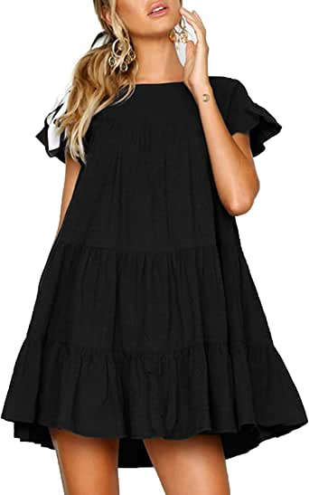 Relipop Fashion Summer Dress Long Sleeve Ruffle Hem