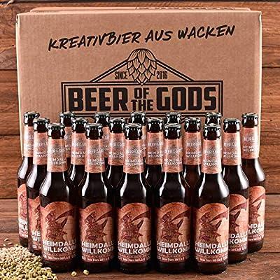 Wacken Brauerei Heimdalls Willkomm - Pack de cervezas caseras - 18 botellas de 0,33 l de bebida