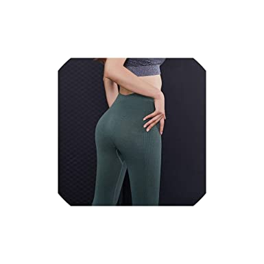 Yoga Pants Solid Sports High Waist Fitness Tights Gym ...