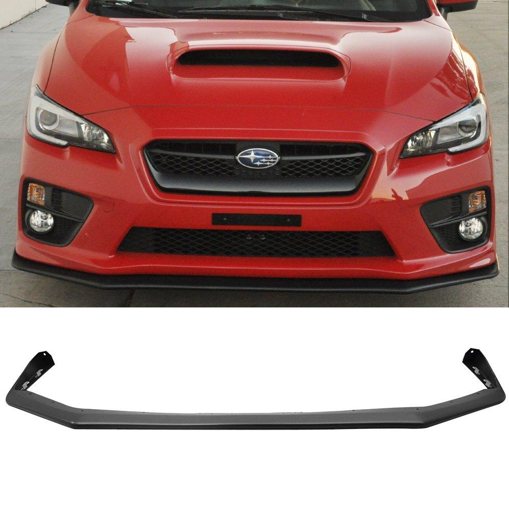 Front Bumper Lip Fits 2015-2019 Subaru WRX STI   V-Limited Style Black PP Front Lip Finisher Under Chin Spoiler Add On by IKON MOTORSPORTS