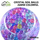 2000PCS WATER BALLS GROWING CRYSTAL SOIL AQUA BEADS 4.1MM COLORFUL GEL DECOR