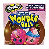 Shopkins Surprise Egg Chocolate Wonderball with Candy and Stickers, 1 oz (1)