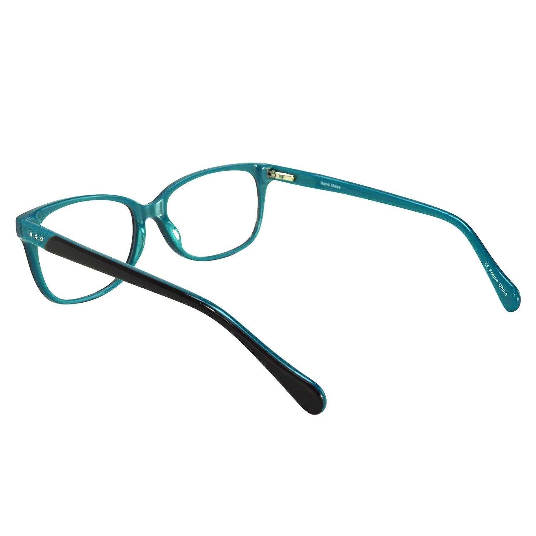 39263b7120 Womens Cateye Prescription Rxable Eyeglasses Frames Size 53-16-140-39 in  Black Blue