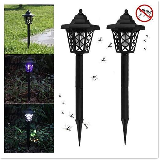 GRAFTS 2 lámparas solares para Mosquitos de jardín con luz LED de Color Violeta, para jardín o Mosquitos, Negro: Amazon.es: Jardín