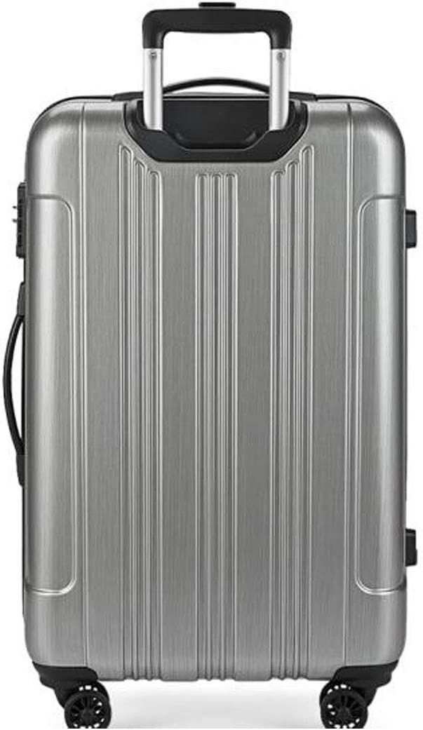 Color : Brushed Silver, Size : 151022 inch Aishanghuayi Suitcase for Reaction Out of Bounds 4 Rounds of fine-Tuning Light Checked Baggage Green Size cm 36 24 55