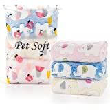 Pet Soft Dog Blankets Small - Fluffy Cats Dogs Blankets for Small Dogs, Cute Print Pet Throw Puppy Cozy Blankets 3 Pack