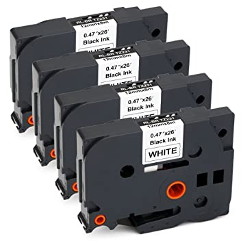 Amazon.com: jarbo 4 paquetes COMPATIBLES BROTHER TZE231 TZe ...