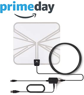 Digital Antenna for HDTV, Paxcess TV Antenna Indoor Amplified Flat TV Antenna, Leaf Antenna