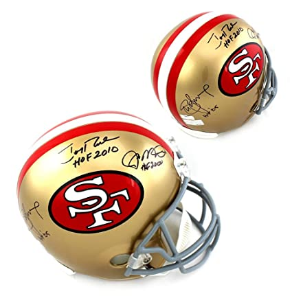 7f091d6ec Image Unavailable. Image not available for. Color: Joe Montana, Jerry Rice  & Steve Young Signed San Francisco 49ers ...