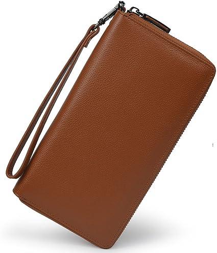 Lang Leder Geldbörse Geldbeutel Clutch Portemonnaie Portmonee Damen Brieftasche