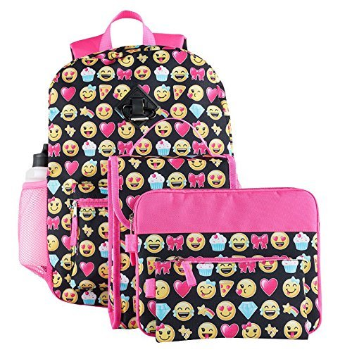 Emoji 6-Piece Backpack & Accessories Set