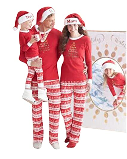 U-WARDROBE Christmas Family Matching Pajamas Set Cotton Christmas Pajama  Set Women M b03ce7cfb