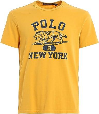 Ralph Lauren Camiseta Amarilla Estampado para Hombre XL: Amazon.es: Ropa y accesorios