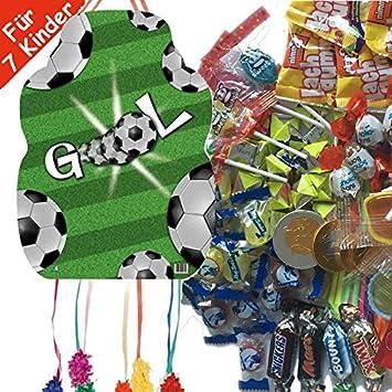 Piñata Set: Fútbol * * con Piñata + Máscara + 100 Juego de ...