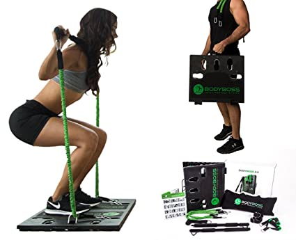 Merveilleux BodyBoss Home Gym 2.0   Full Portable Gym Home Workout Package + Set Of  Resistance Bands