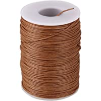 (Brown) - BQLZR 0.7mm 100M Ramie Round Natural Hemp Waxed Thread Leather Craft Sewing Cord for DIY Tool Handwork Stitching Light Brown