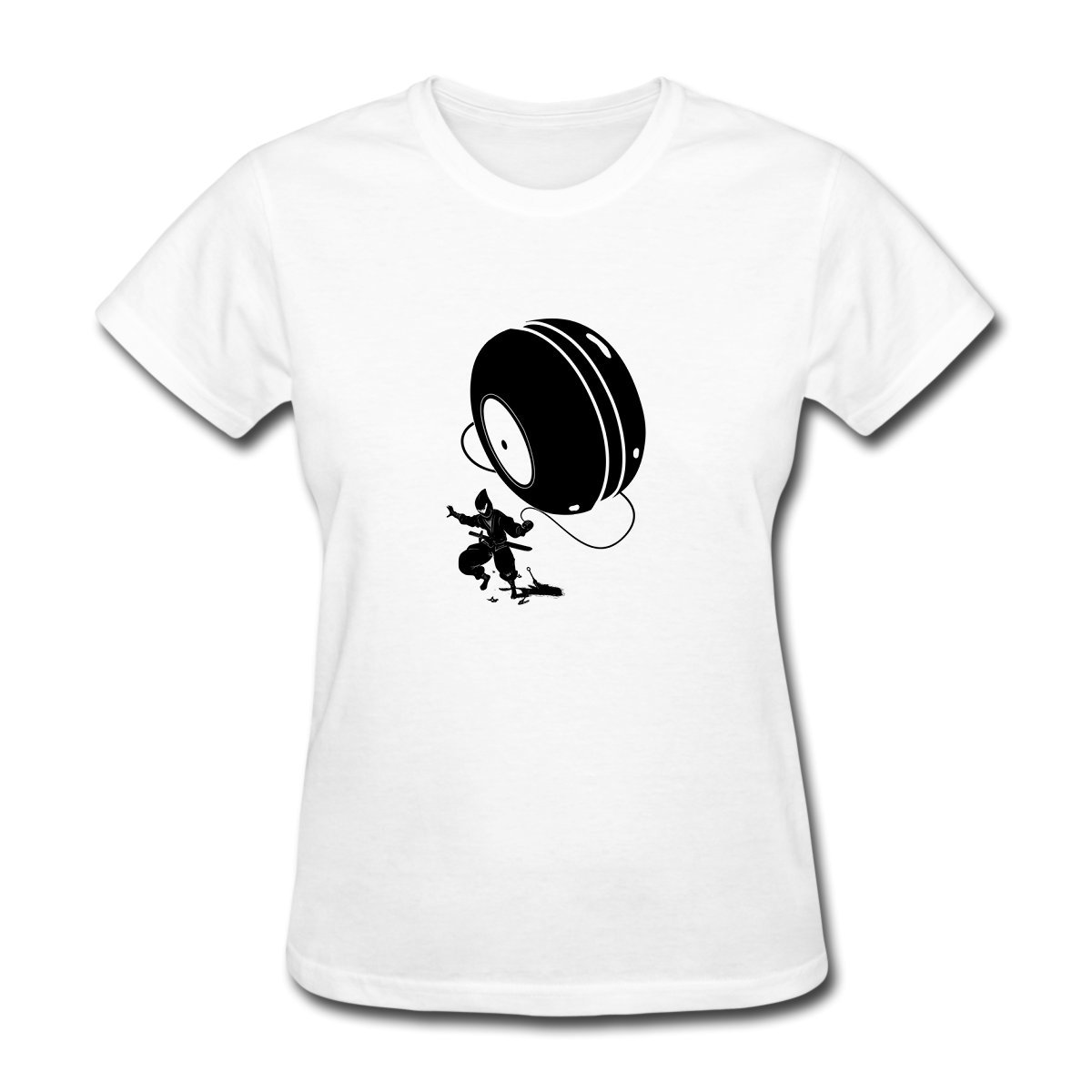 Amazon.com: Pookeng Ninja YOYO Womens Funny Short Sleeve T ...